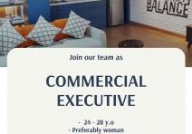 Flayer job vacancy Commercial Executive